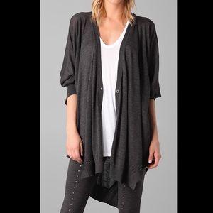 $545 NWT Alexander Wang 100% Wool Gray Cardigan